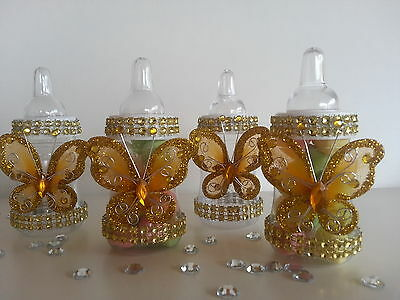 12 Fillable Butterfly Bottles for Favors Prizes or Games Baby Shower - Prizes For Baby Shower Games