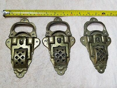 Very Rare, Lot 3, VINTAGE ANTIQUE LARGE CHEST TRUNK LATCHES, CAST IRON, Marked 5