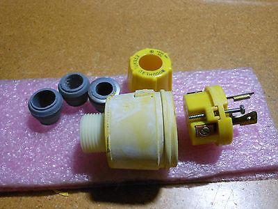 Woodhead Locking Connector Plug 26w48 Nsn 5935-01-093-2496 20a 250v
