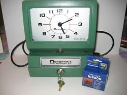 Acroprint Automatic Electirc Time Clock 150NR4  with 2 keys Needs Repair