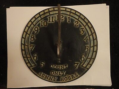 Vintage Virginia Metalcrafters Cast Iron and Brass Sundial. Good condition.
