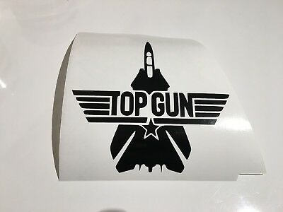 TOP GUN Jet,car decal/ sticker for windows, bumpers , panels ,laptop