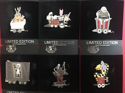Disney nightmare before christmas holiday train pin set LE 125 NEW Halloween