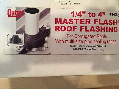 14 To 4 Oatey Master Flash Roof Flashing No 14052 For Corrugated Roofs