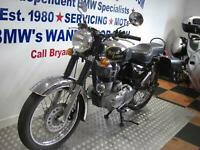 ROYAL ENFIELD BULLET 500 ELECTRA DELUX, FITTED SADDLE BAGS, ONLY 3055 MLS
