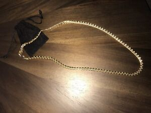 26 inch 18k Gold Plated Chain 6mm