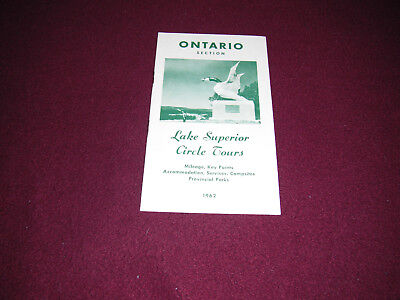 1962 Ontario Lake Superior Circle Tours Guide Brochure
