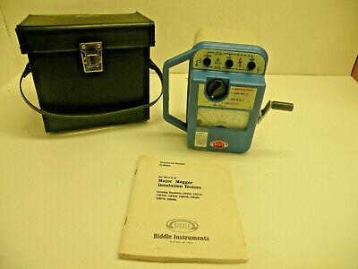 Biddle Voltage Insulation Tester Hand Crank Megohmmeter Megger Instruments