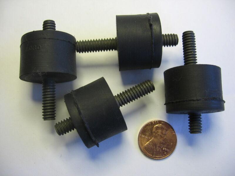 """4) Plate Vibration Damper Shock Mount CAT 7P-7913 Lord 1/4"""" Double Bolt Dampener"""