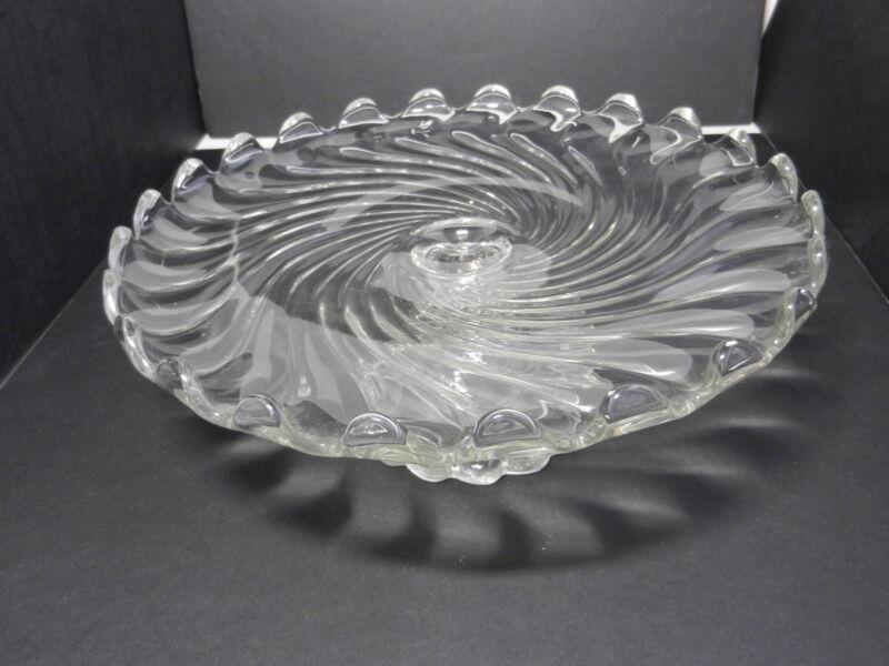 """Fostoria Colony Cake Stand Clear Crystal 12"""" D ca 1940-1973"""