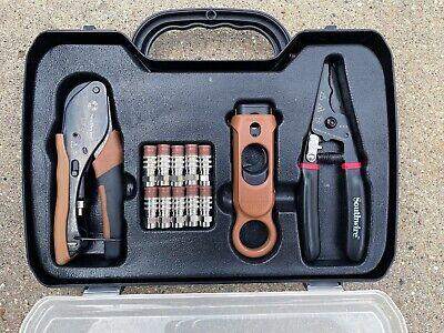 Southwire Cable Tv Tool Kit Coax Termination Set Plastic Case Kit-c1