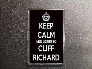 KEEP CALM AND LISTEN TO CLIFF RICHARD FRIDGE MAGNET BIRTHDAY GIFT