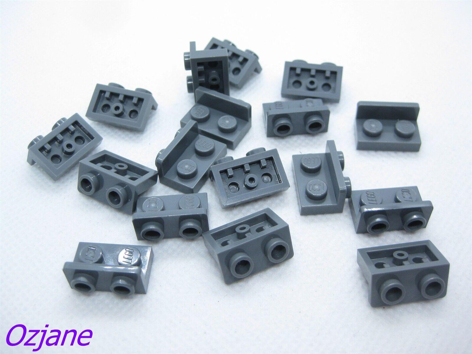 LEGO PART 99780 DARK BLUISH GREY BRACKET 1 X 2-1 X 2 INVERTED 15 PCS
