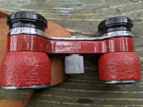 Vintage Made in Occupied Japan Binoculars Opera Glasses w/Case 2.5x