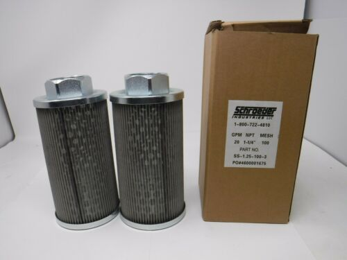Schroeder SS-1.25-100-3 Suction Strainer 2PACK (BRAND NEW)