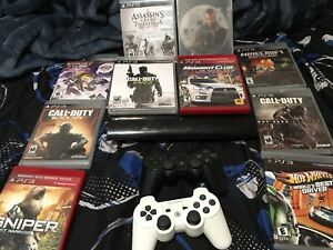 PS3 2 CONTROLLERS and 10 games are extra