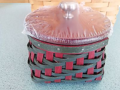 Longaberger 2016 Collector's Club Limited Holly Leaves Basket set NEW