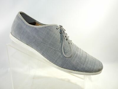 Zara Man 5201 Size 12 M/46 Gray Canvas Lace Up Oxford Casual Sneakers Mens Shoes