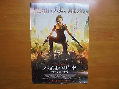 Resident Evil  The Final Chapter Movie Flyer Mini Poster Chirashi Japan 28 10 1