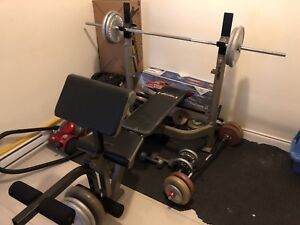 Bench press combo + bars and 250+ in weights