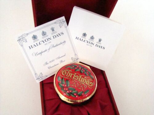 Halcyon Days Enamel Annual CHRISTMAS Year Box 2020 with COA NEW MINT ENCH200101G