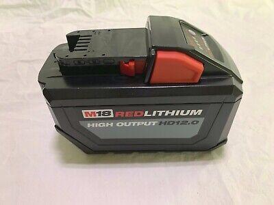 Milwaukee 48-11-1812 M18 18v 12.0 Ah Battery New From Larger Kit