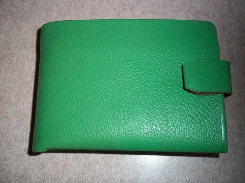 Vintage Schiaparelli Leather Green Bill Fold