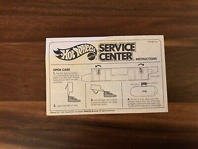 Vintage Hot Wheels Service Center Sto N Go Playset (1979) Instructions Only