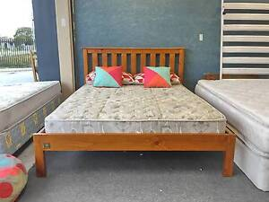 TODAY DELIVERY SOLID WOODEN Queen bed & BACK SUPPORT mattress Belmont Belmont Area Preview