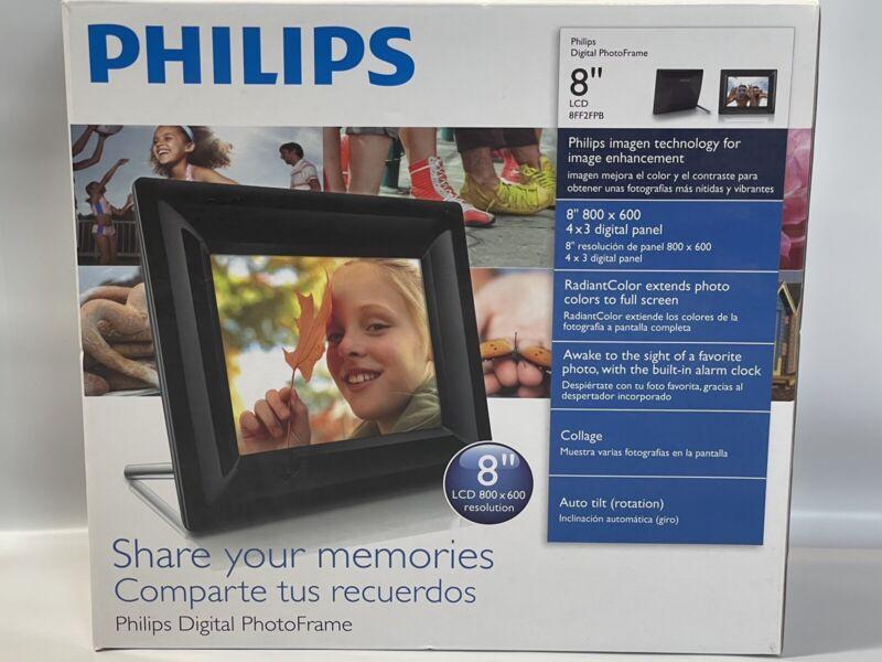 "Philips 8FF2FPB / 8FF2FPW 8"" Black Digital Photo Frame 8"" LCD Screen BRAND NEW"