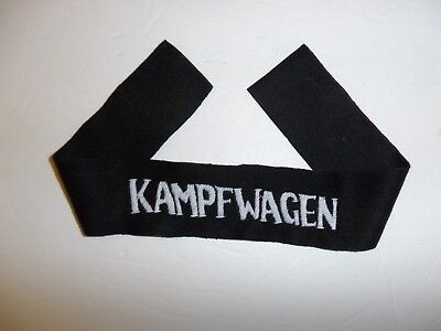 b8078 WW 1 German Panzer Kampfwagen cuff title Tank crew IR1C