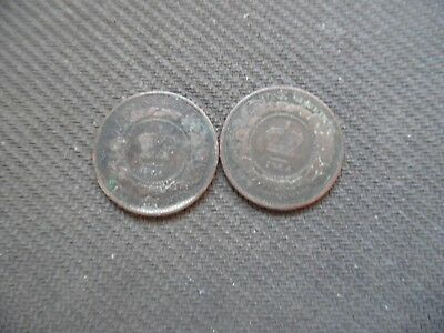New Brunswick cents. 1861 & 1864.