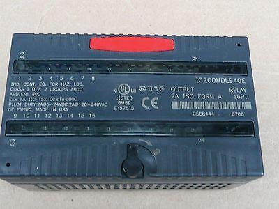 Ge Fanuc Versamax Ic200mdl940e Relay Output Module 16pt