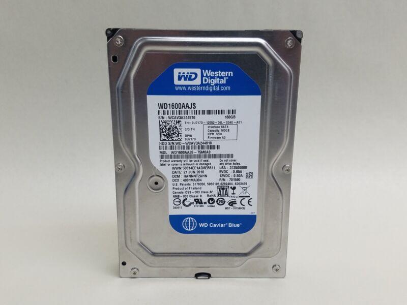 """Lot of 5 Western Digital Caviar Blue WD1600AAJS 160GB 3.5"""" SATA II Desktop HDD"""