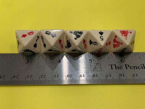 Nice Set of 5  8 sided poker dice