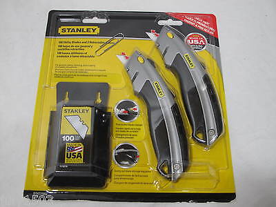 2 Stanley Utility Knife 10-788 + 100 replacement blades 11-9