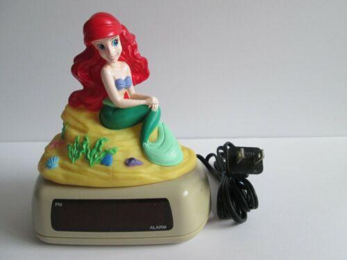 Vintage Disney Little Mermaid Ariel Digital Alarm Clock Night Light Princess EUC