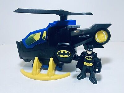BATMAN IMAGINEXT DC SUPER FRIENDS BATCOPTER HELICOPTER - FISHER PRICE TOY
