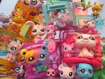 Littlest Pet Shop Lot 7 Pcs Surprise Random Figures w Babies Authentic Lps