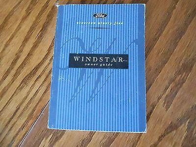 95 Windstar Owners Operators Manual