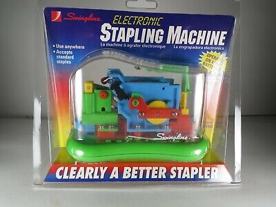 Swingline Electronic Stapling Machine 21103 Multicolor With Green Base