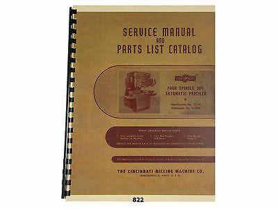 - Cincinnati Four Spindle 360 ProfilerType OT  Service Manual & Parts List  *822