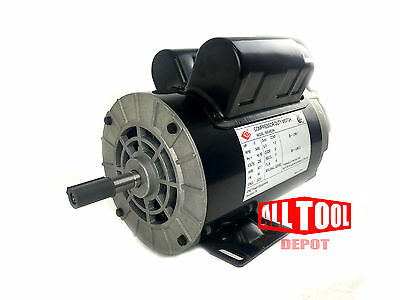 3 Hp Single Phase Spl 3450 Rpm 56 Frame 230v 15amp 58 Shaft Nema Motor