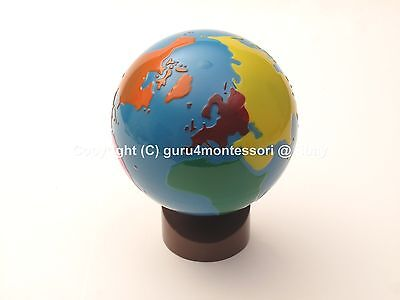 NEW Montessori Geography Material-GLOBE of World Parts ...