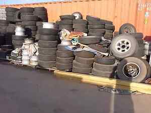 Lots of used tyres tires wheels available barrier burnouts plants Reservoir Darebin Area Preview