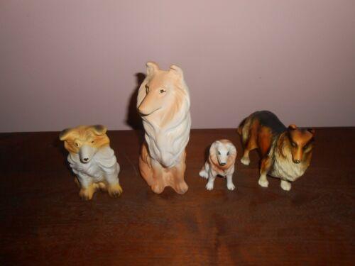 Collie Dog Figurines (4)