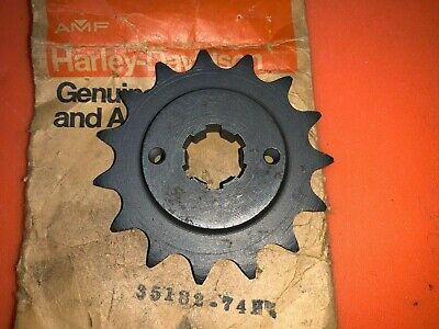AERMACCHI HARLEY NOS 35182-74P 15 tooth FRONT SPROCKET 74-78 SS SX 175 250