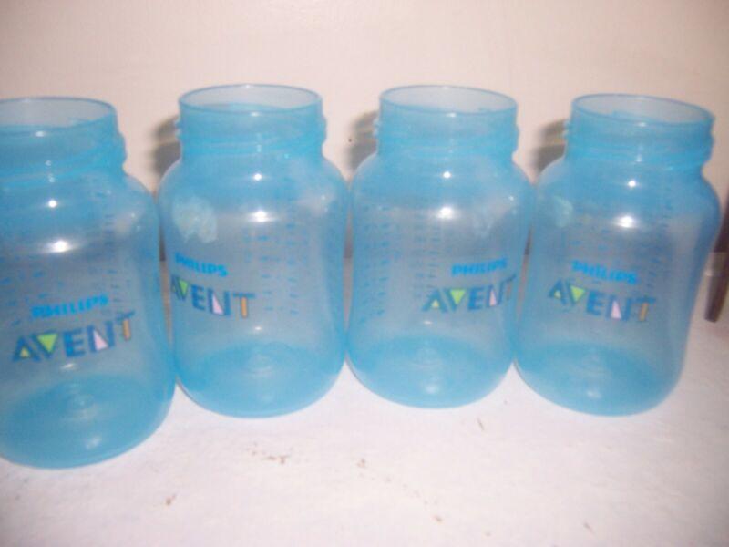 Avent  4 blue bottoms bottle only 9 oz size