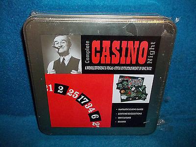 COMPLETE CASINO NIGHT - GAMES, RECIPIES, INVITATIONS, COSTUME IDEAS - NEW SEALED (Casino Game Ideas)