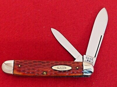 Case XX 1940-64 pretty red bone 6294 LP long pull cigar jack knife